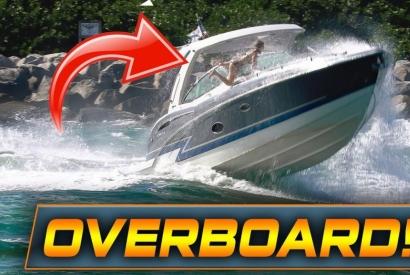 Donna cade da un' imbarcazione e rischia di annegare. Ecco il video.